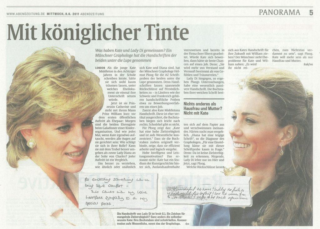 Graphologie: Abendzeitung München: Mit königlicher Tinte