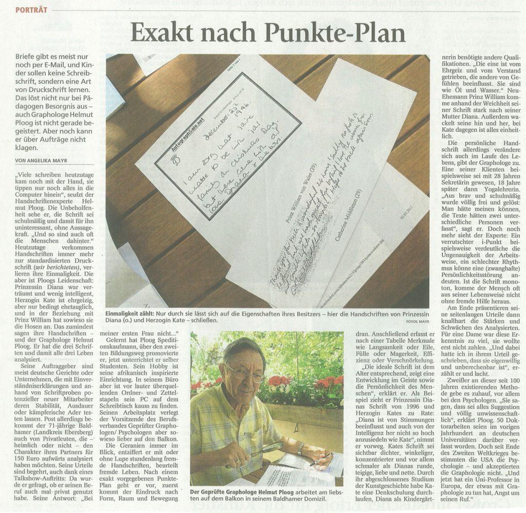 Münchner Merkur: Exakt nach Punkteplan