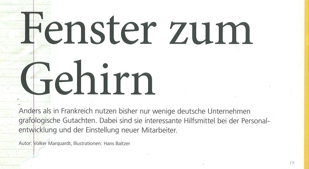 Nr. 1/2012 Das formgelb Magazin: Fenster zum Gehirn